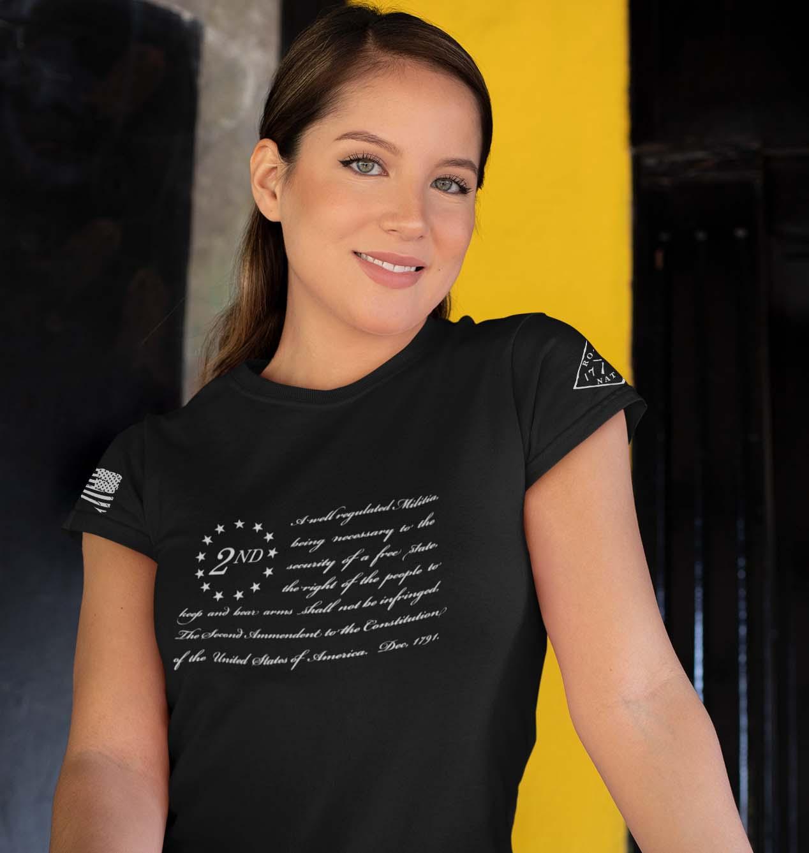 t-shirt betsy ross 2nd black women's
