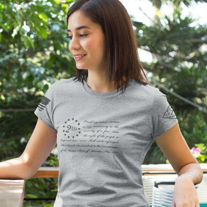 t-shirt betsy ross 2nd heather grey women's