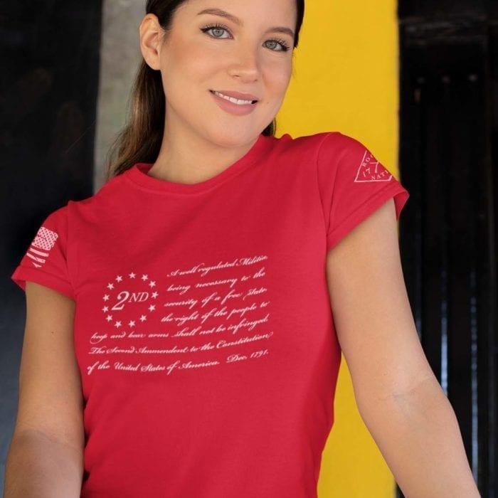 t-shirt betsy ross 2nd red women's