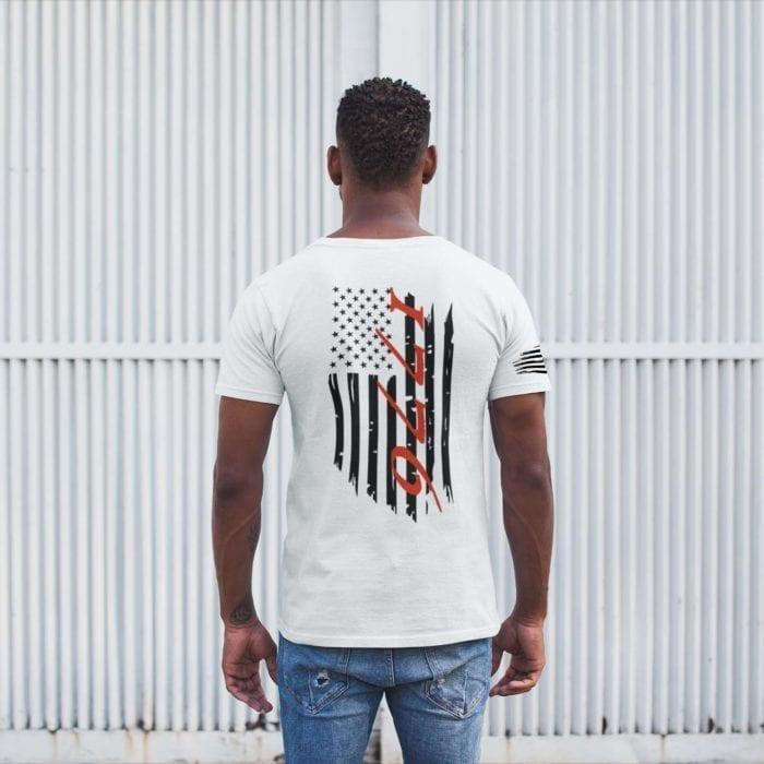 t-shirt flag 1776 white mens