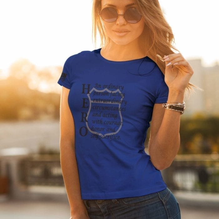 t-shirt hero police Royal - womens