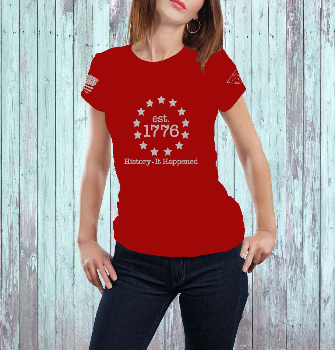 t-shirt history it happened red men's
