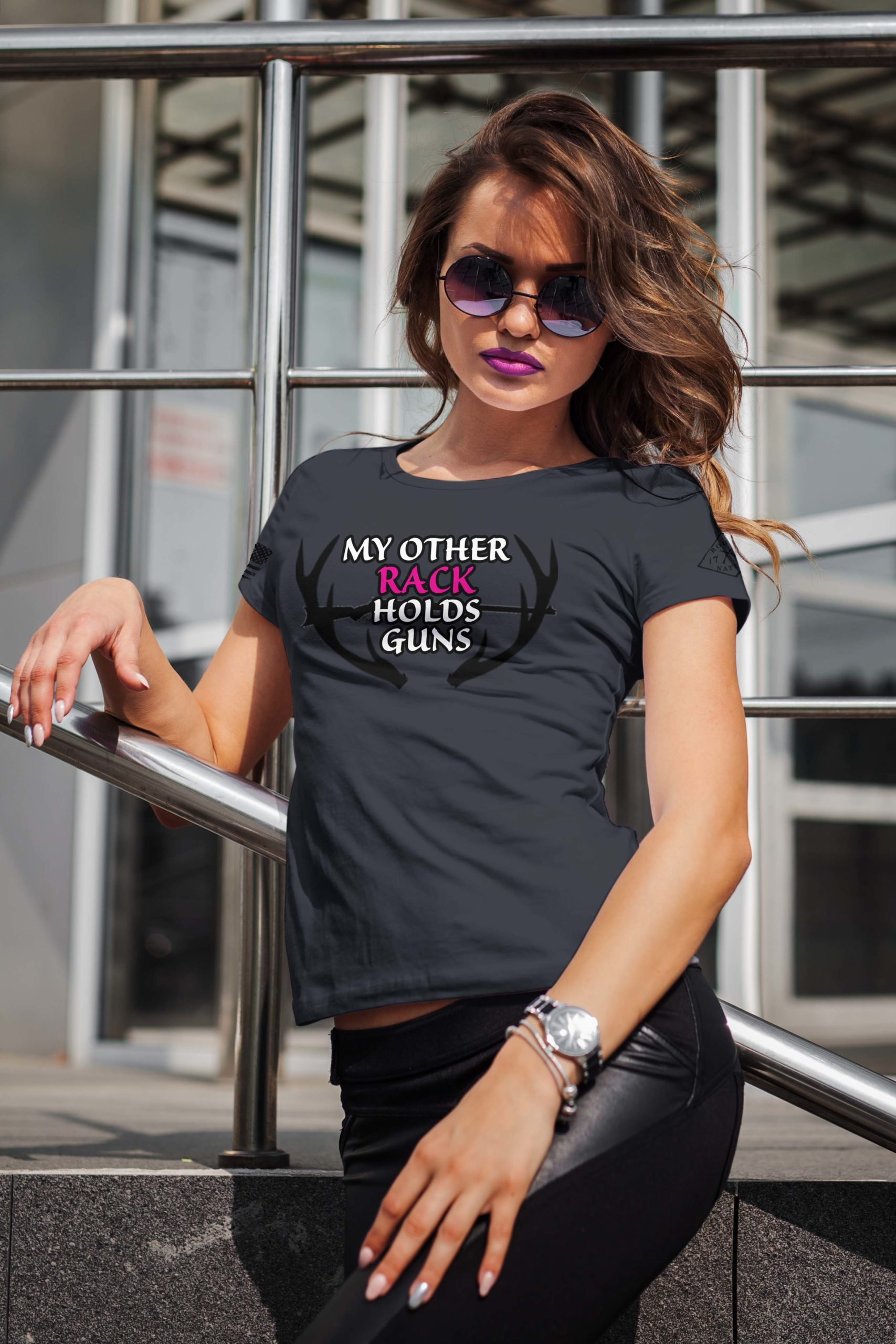 t-shirt with my other rack on charcoal women's