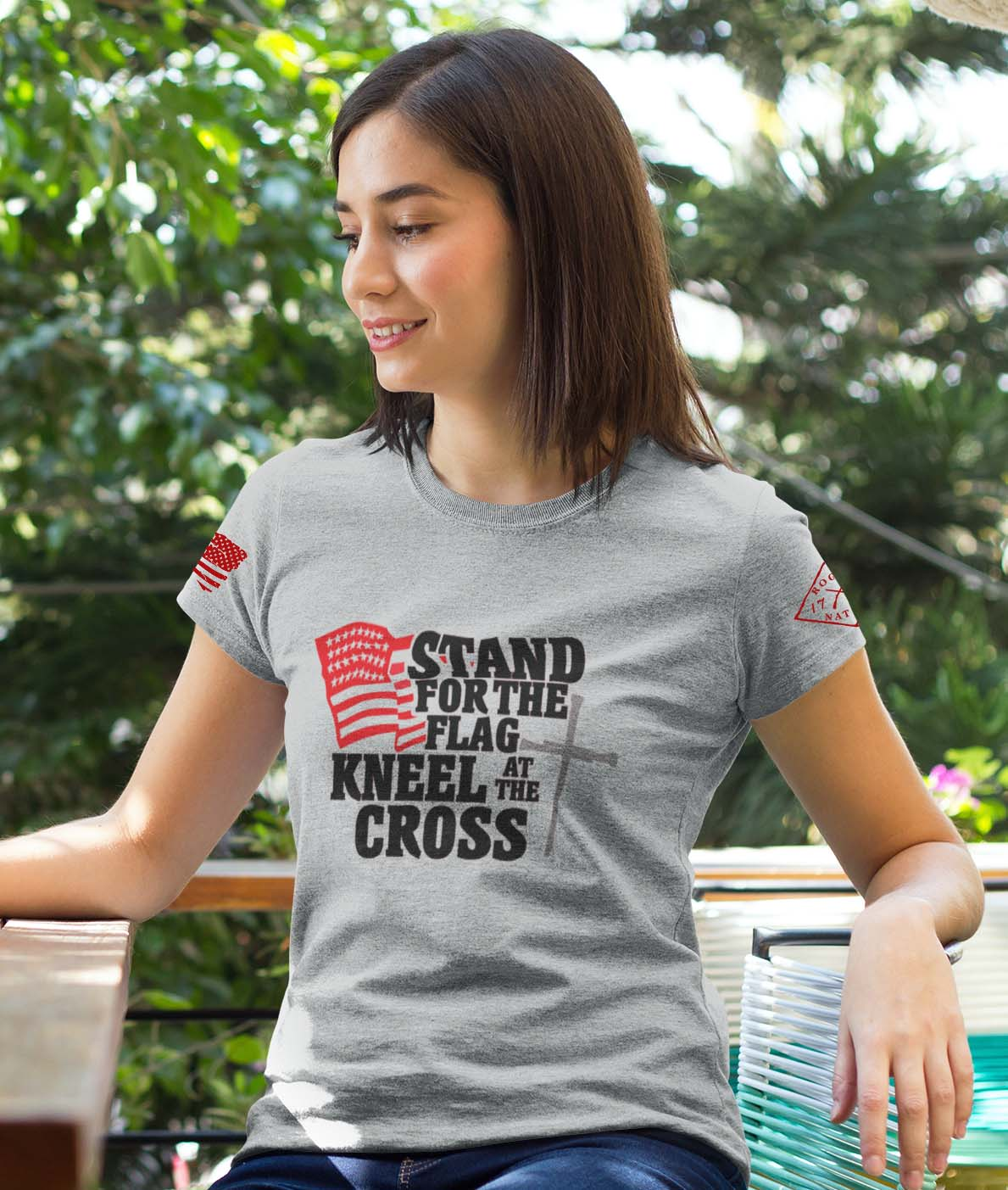stand for the flag grey women's
