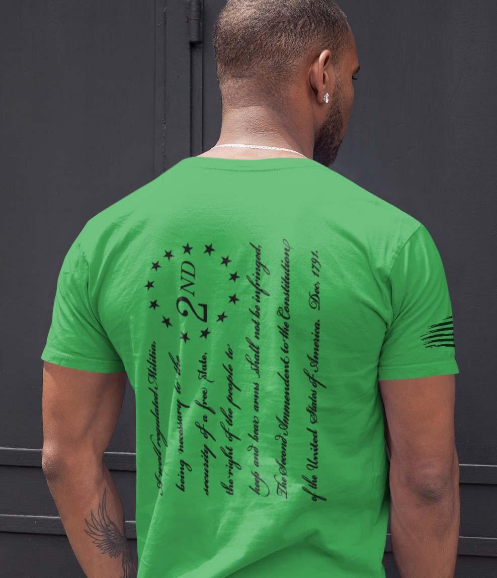 t-shirt 2nd amendment on grass men's
