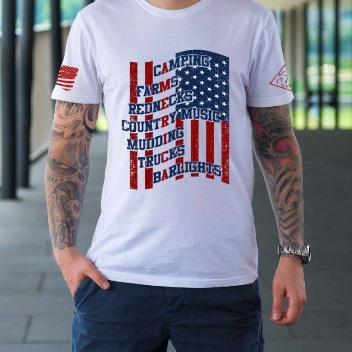 t-shirt camping america white