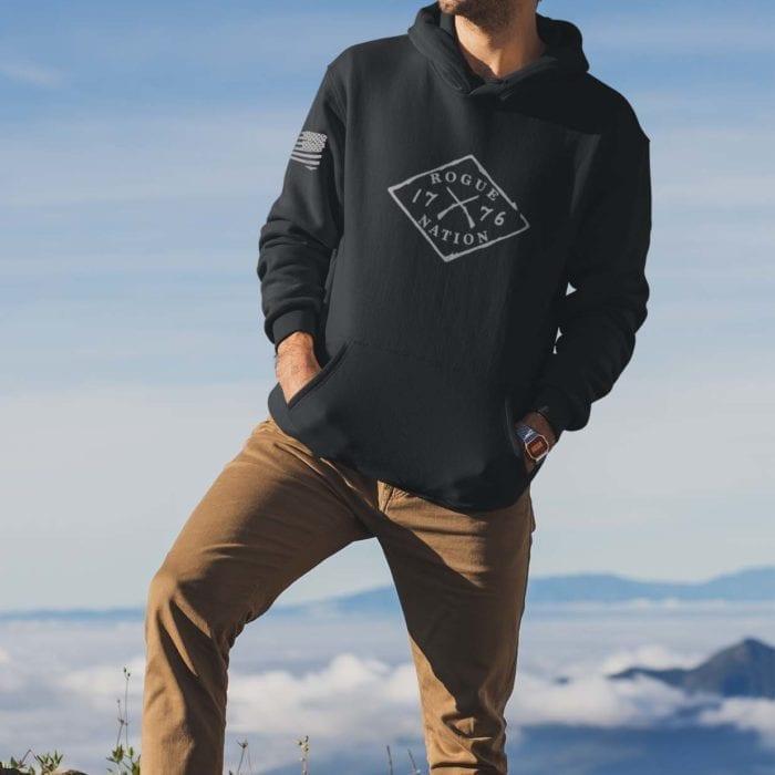 hoodie logo black men's