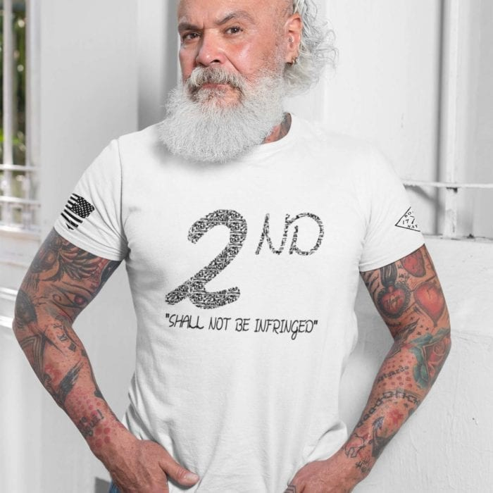 t-shirt shall not be infringed on white mens