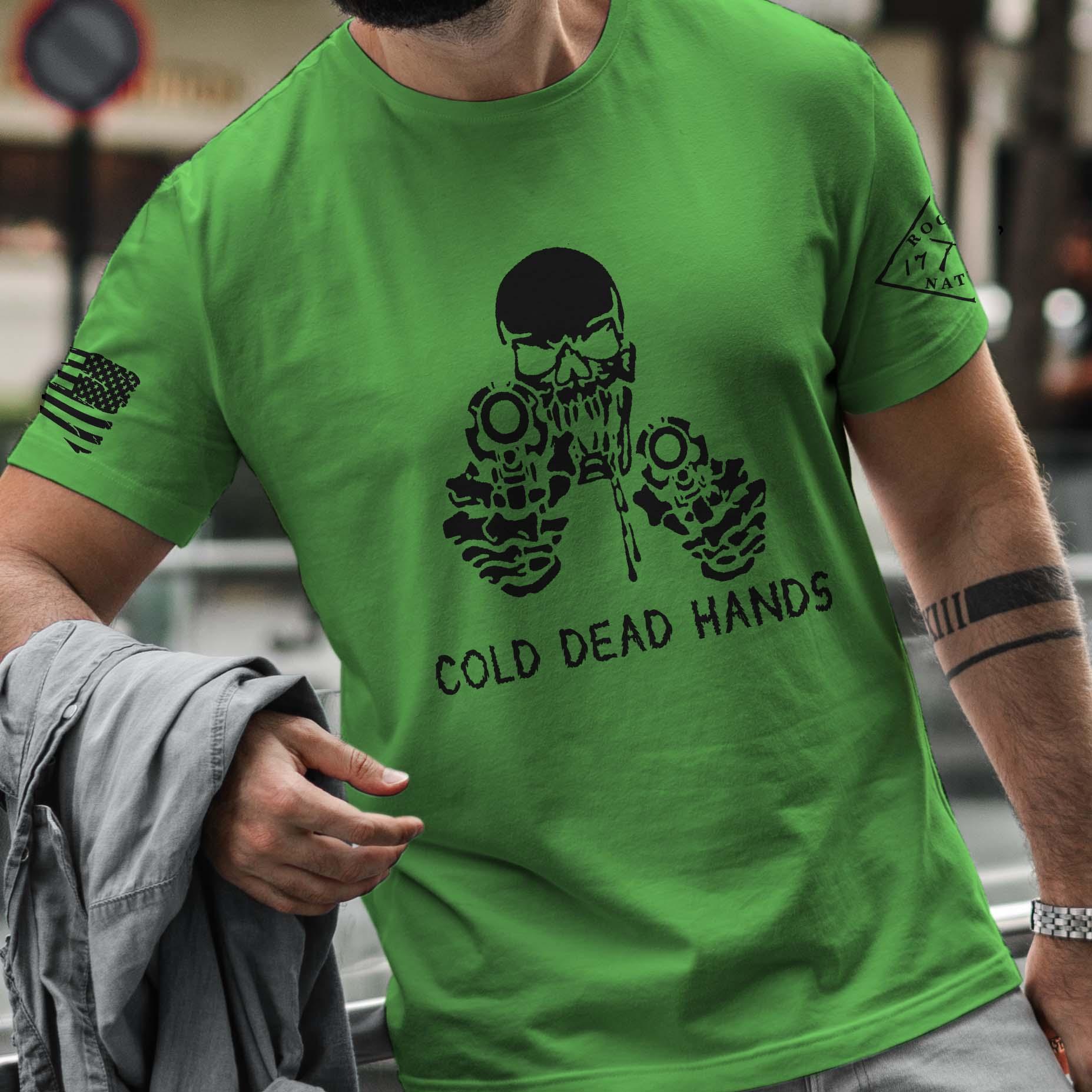 t-shirt cold dead hands grass men's