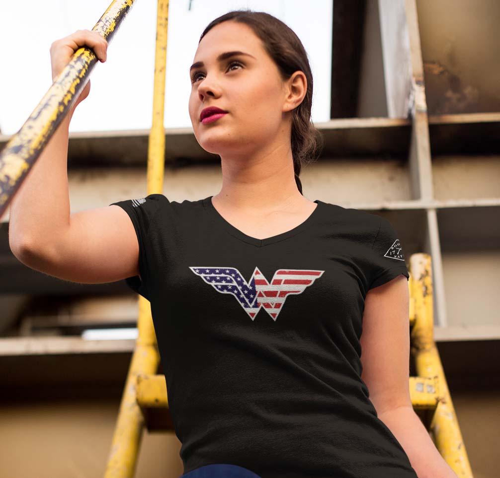 black Wonder Woman T-shirt