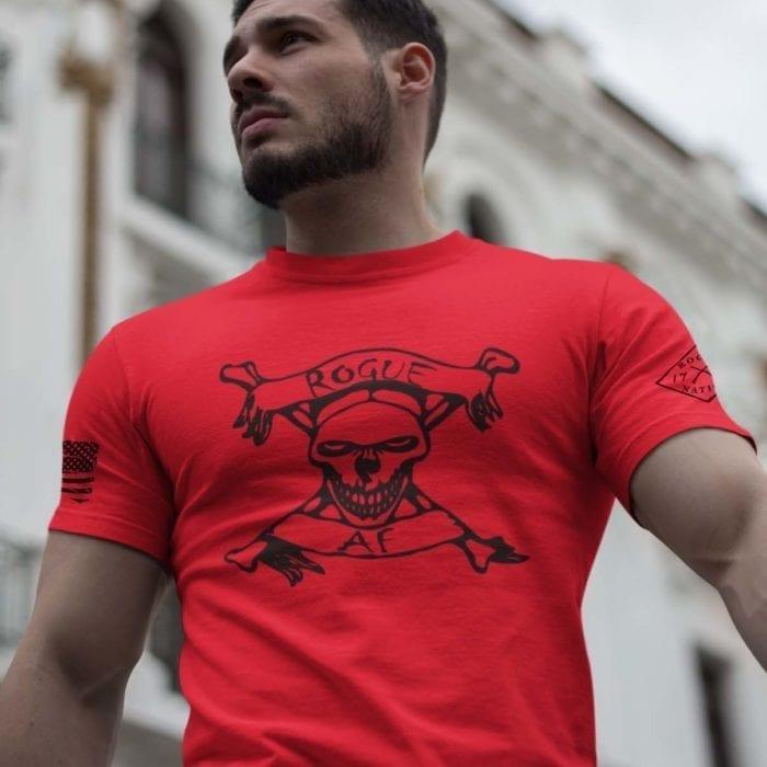 Rogue AF on Mens Red T-Shirt