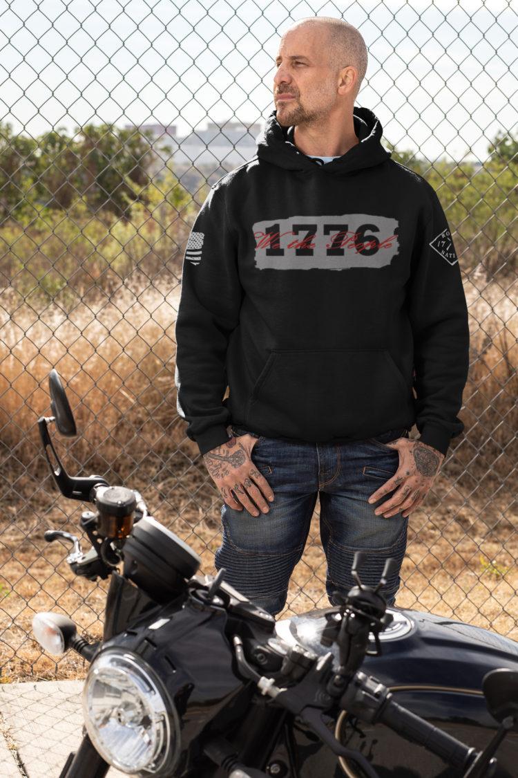 hoodie we the people on black men's