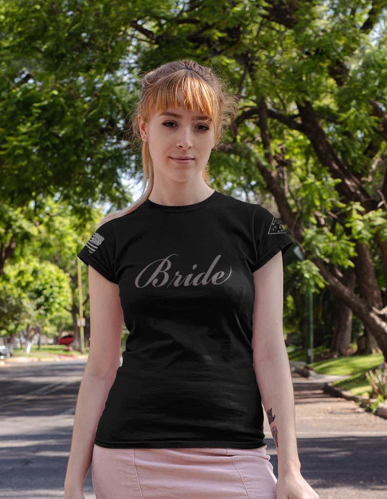 Bride in women's black