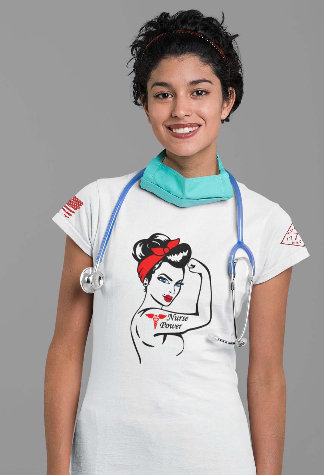 nurse power on women's white