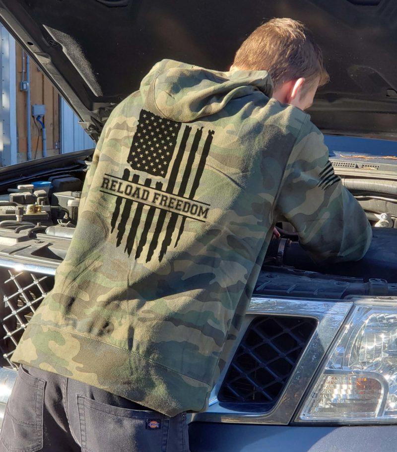 hoodie reload freedom camo lightweight mens