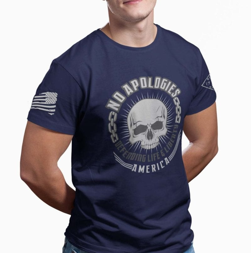 No Apologies on mens navy blue
