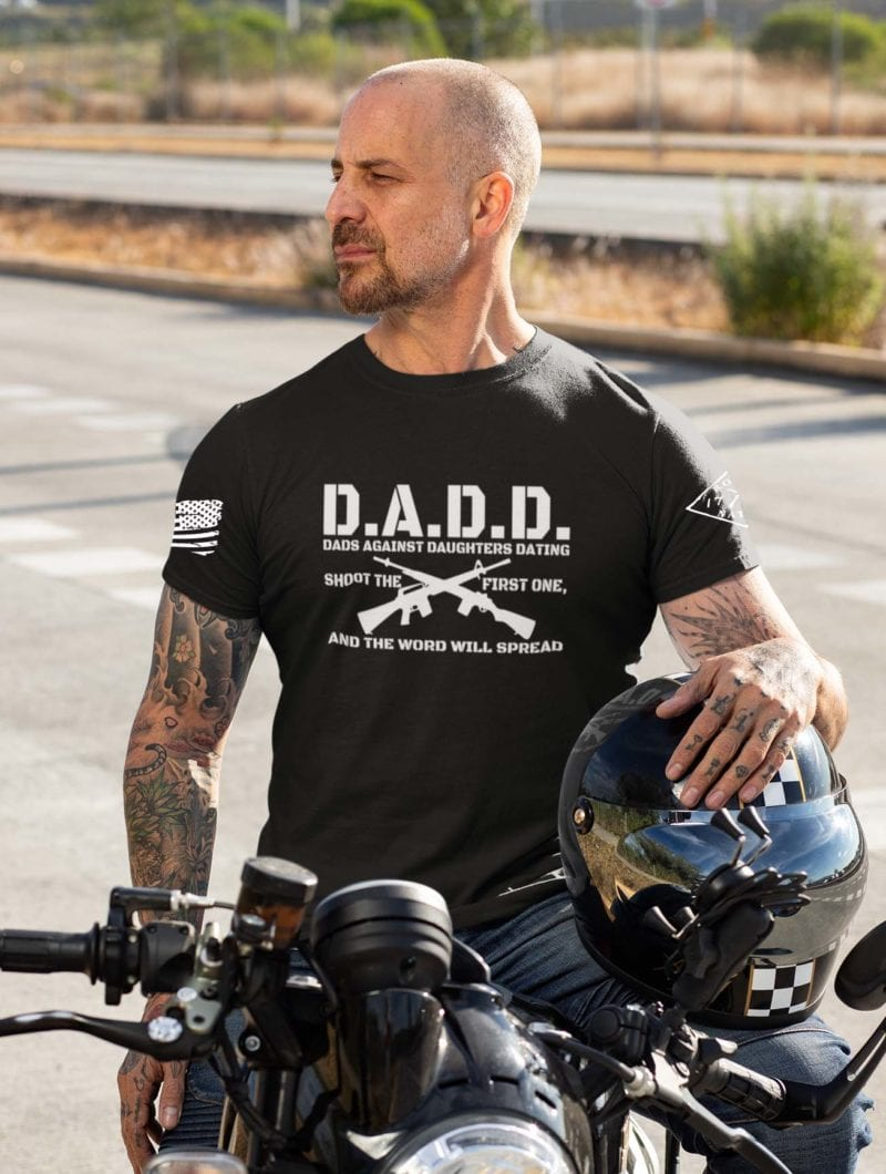 D.A.D.D. Dads Against Daughters Dating on Mens Black