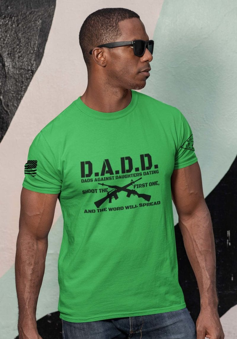 D.A.D.D. Dads Against Daughters Dating on Mens Grass Green