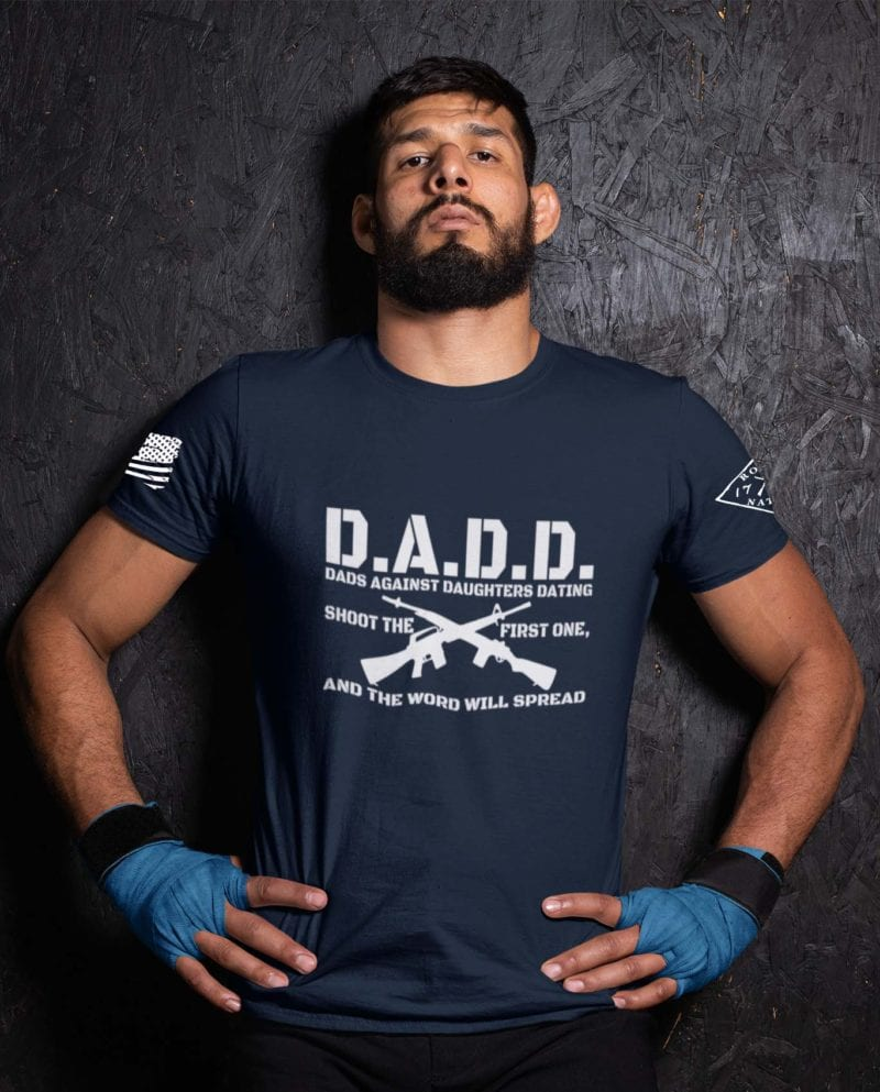 D.A.D.D. Dads Against Daughters Dating on Mens Navy
