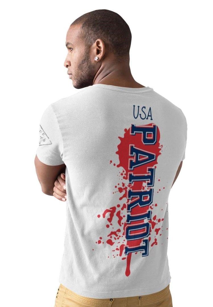 Patriot on Mens white t-shirt