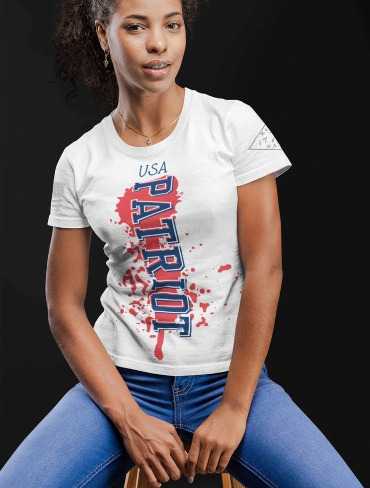 Patriot shirt on womens white T-shirt