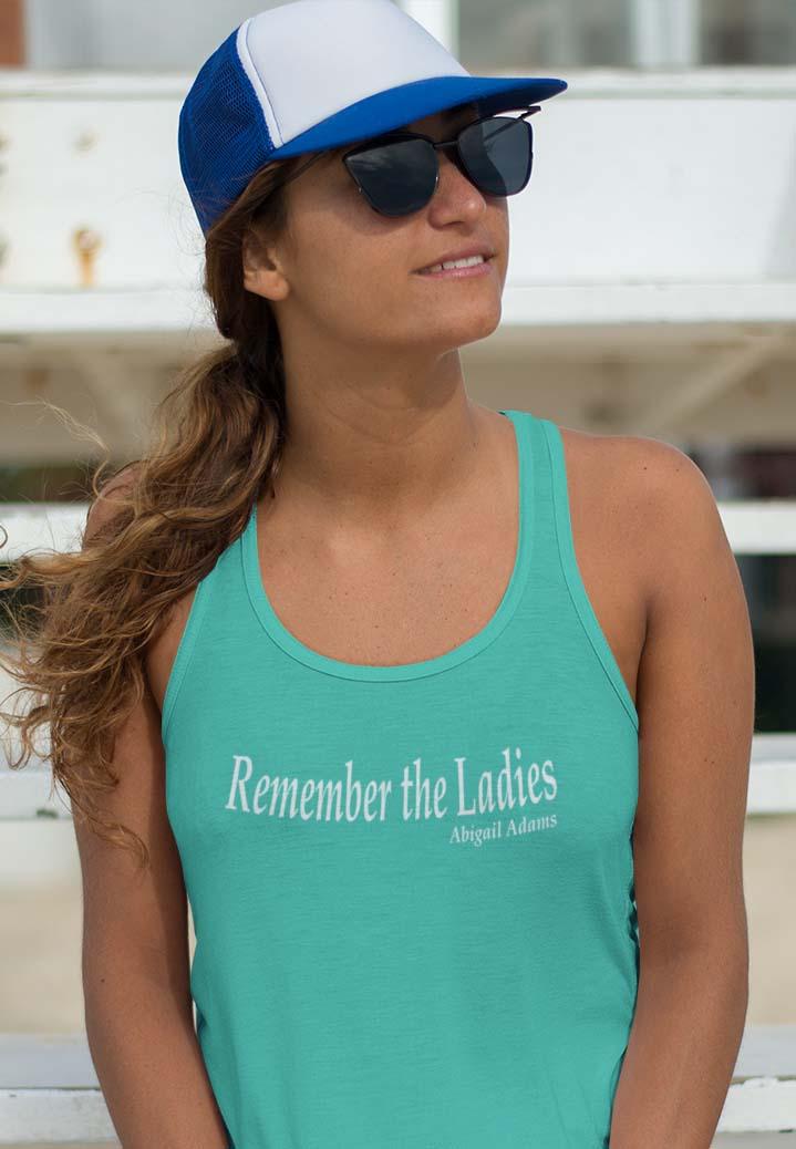 Remember the ladies in Teal racerback tank