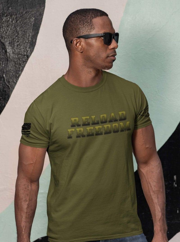 Reload on amry men's tshirt