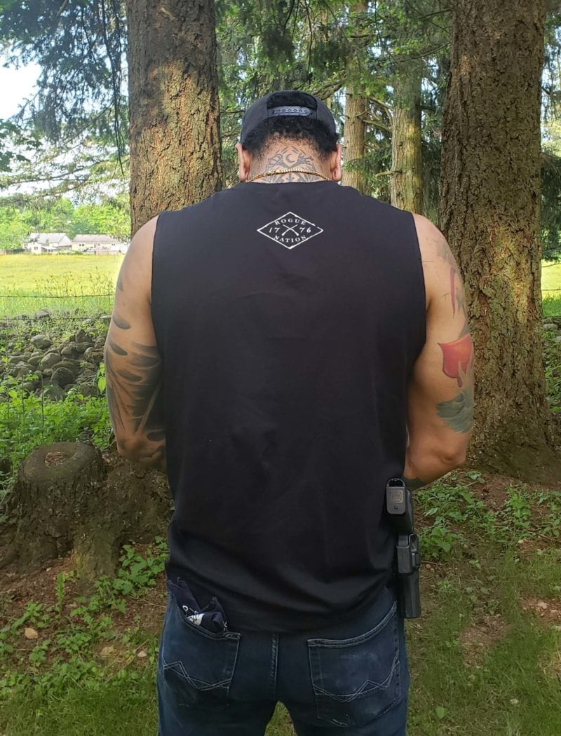 Black Muscle tank with logo