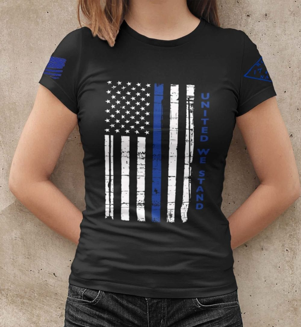 United We Stand Police on womens black