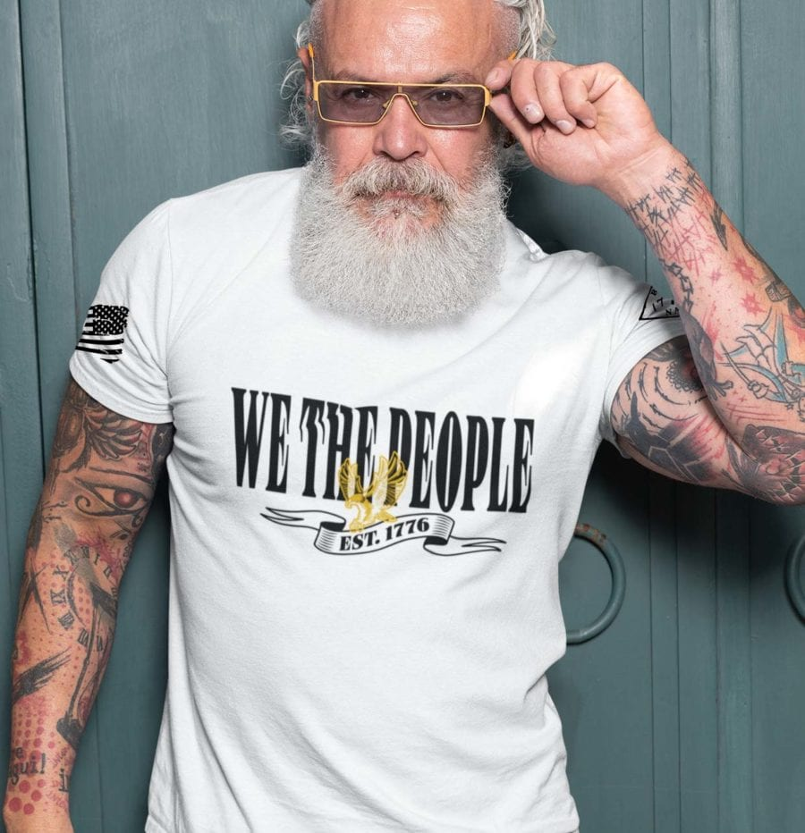 W.T.P Gold on Mens White T-Shirt