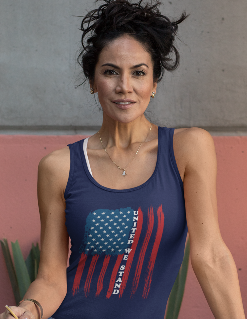 United We Stand on Women's Tank