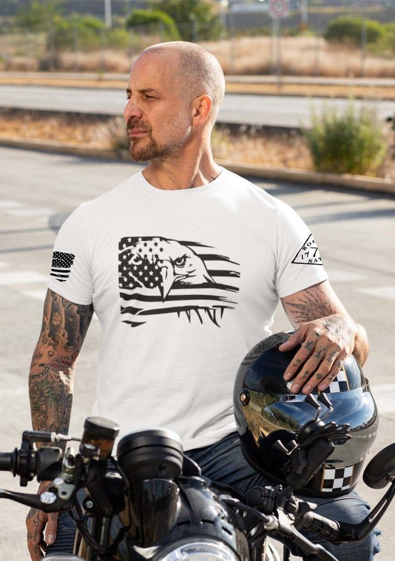 Eagle Pride on Men's White T-Shirt