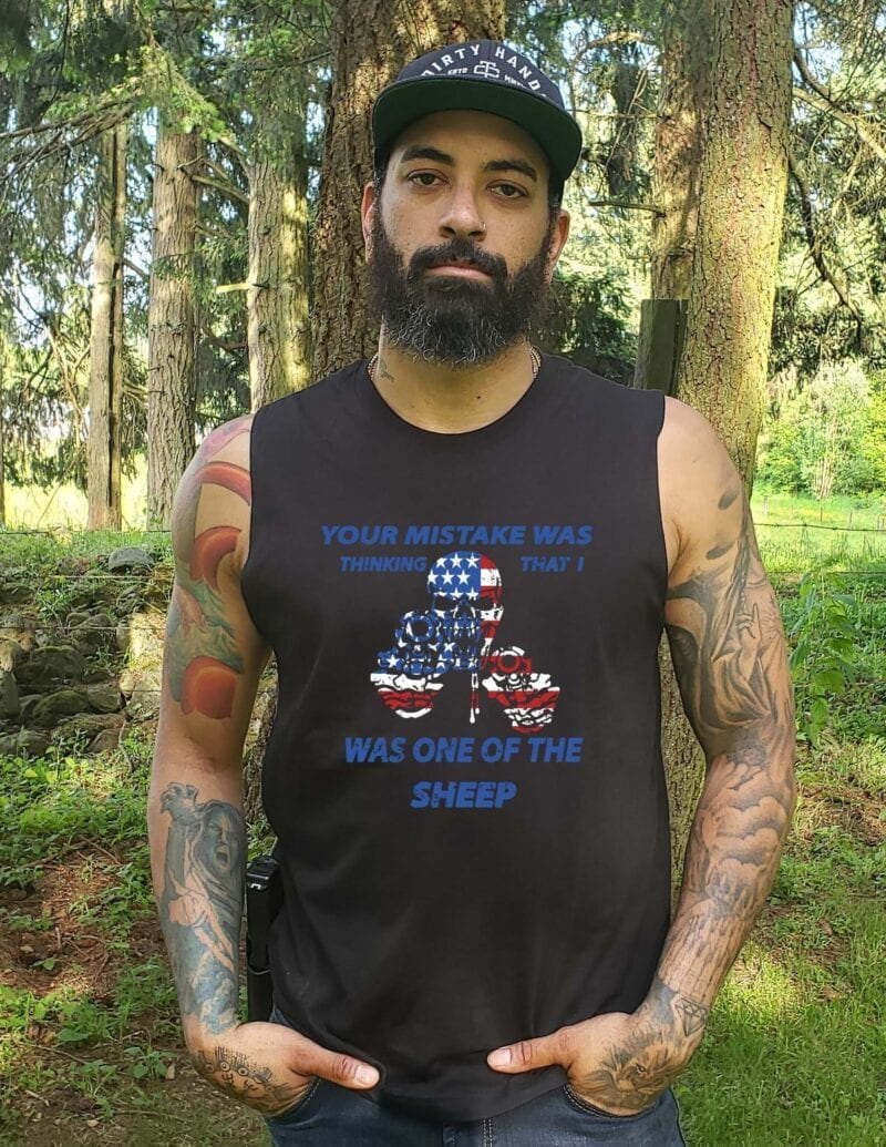Not your Sheep on Men's Black Muscle Tank