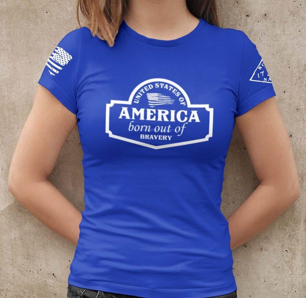 September Club shirt on Women's Blue T-Shirt