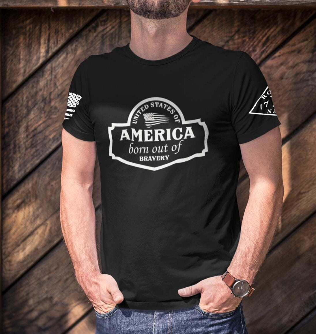 September Club Shirt on Mens Black T-Shirt