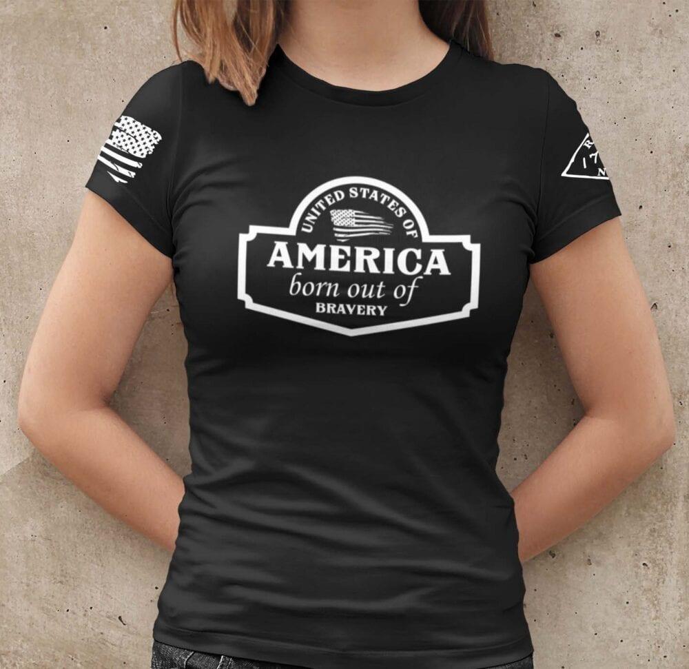 September Club Shirt on Women's Black T-Shirt