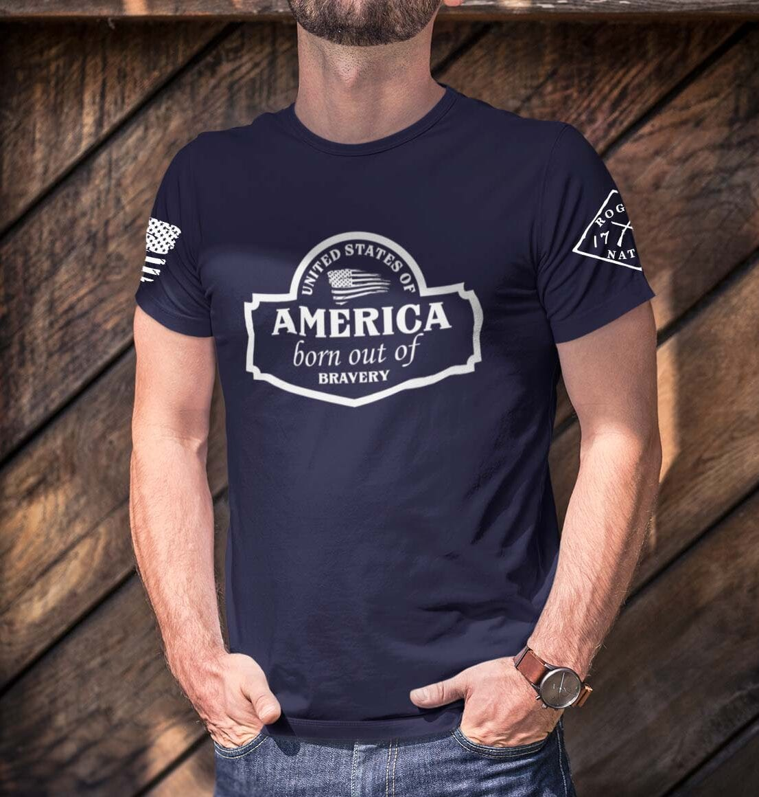 September Club Shirt on Men's Navy Blue T-Shirt