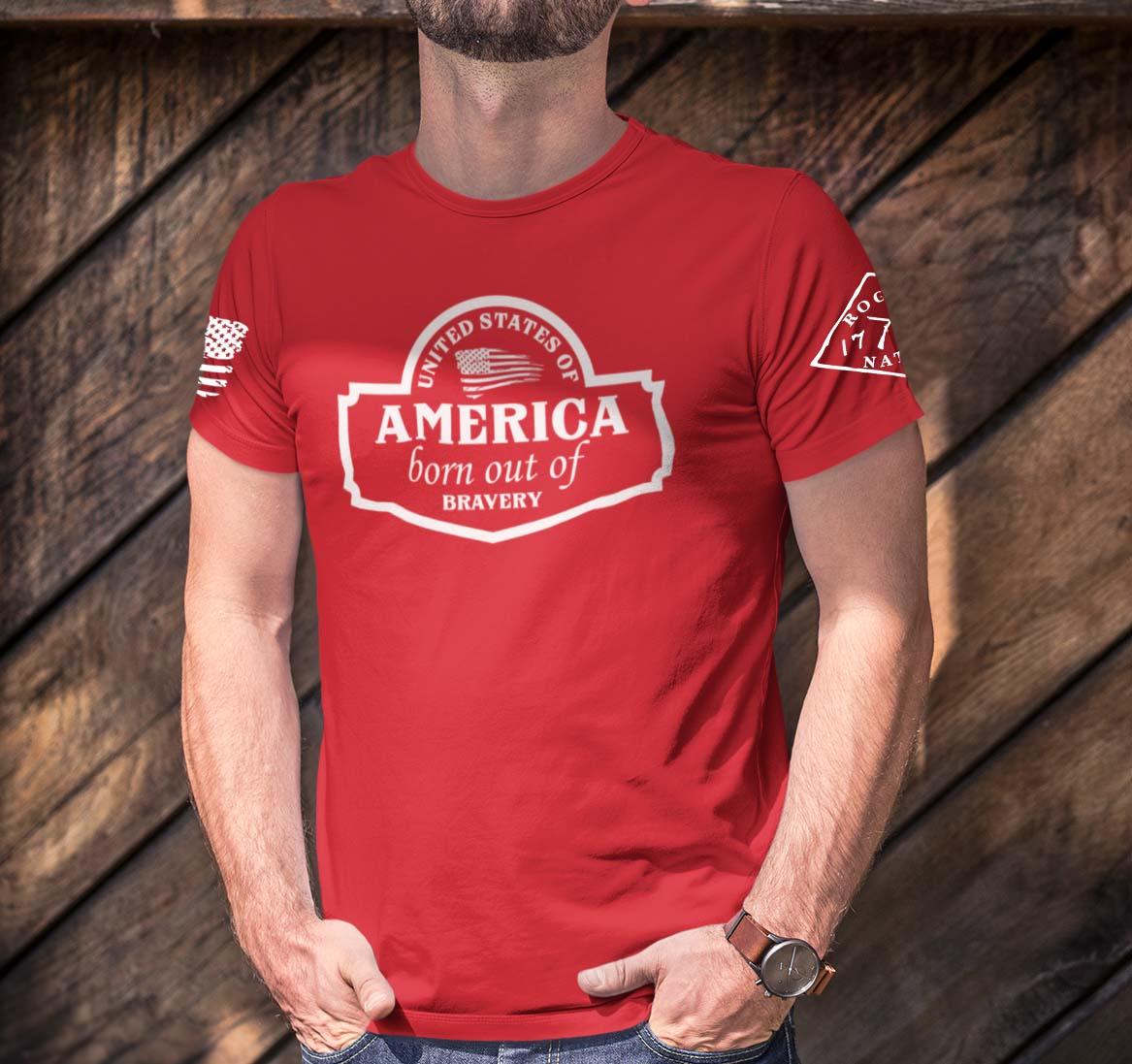 September Club Shirt on Men's Red T-Shirt
