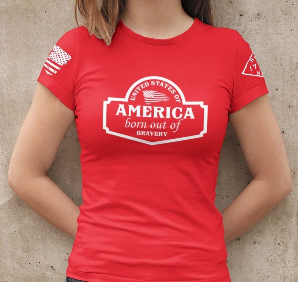 September Club Shirt on Women's Red T-Shirt
