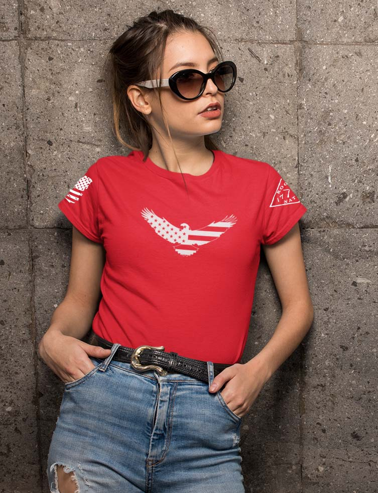 American Eagle On Women's Red T-Shirt
