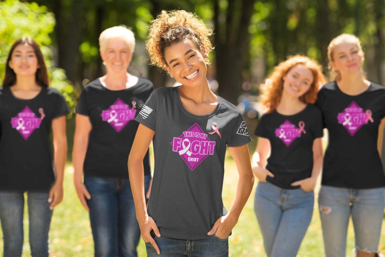 Cancer Awareness Fight Shirt, Group Shot