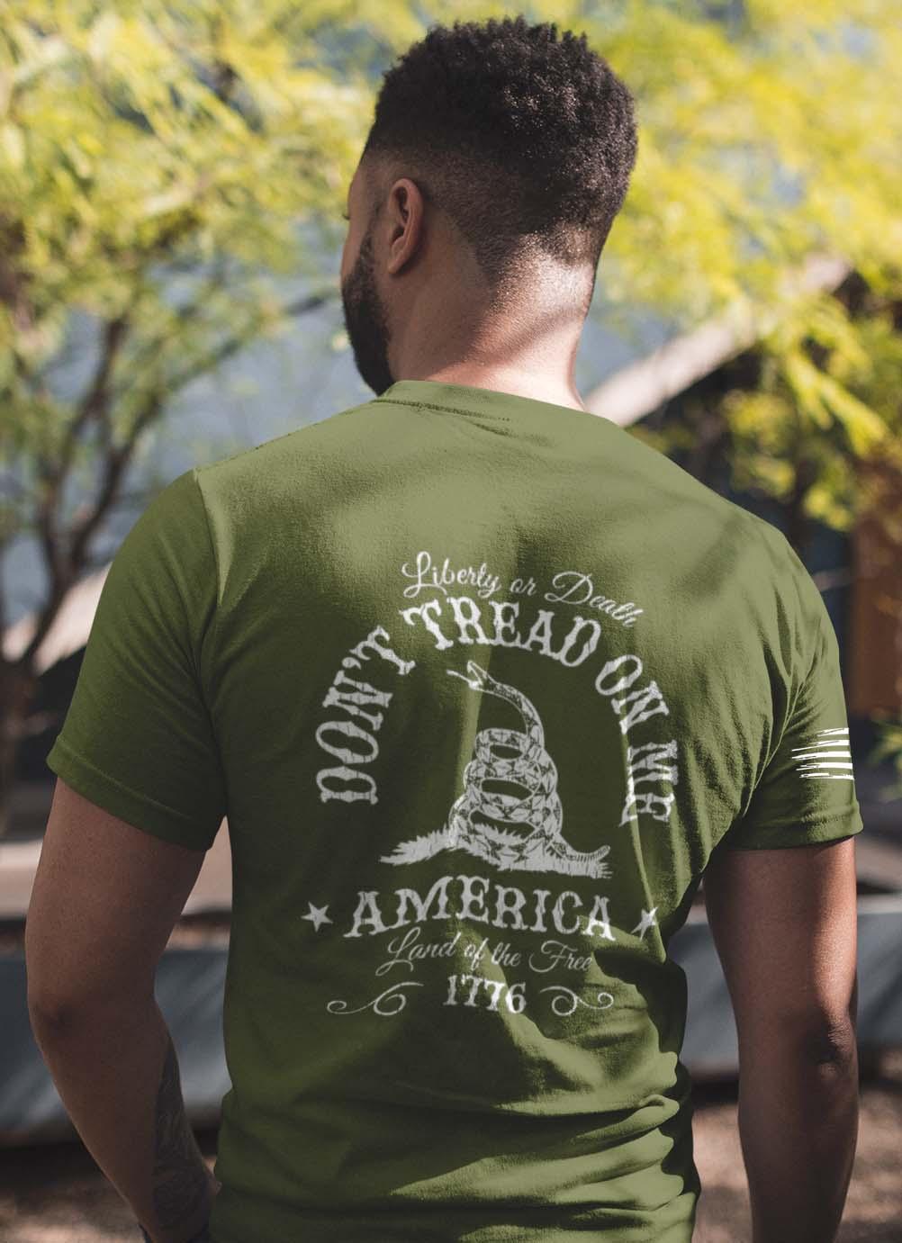 Dont tread on me on mens Army tshirt