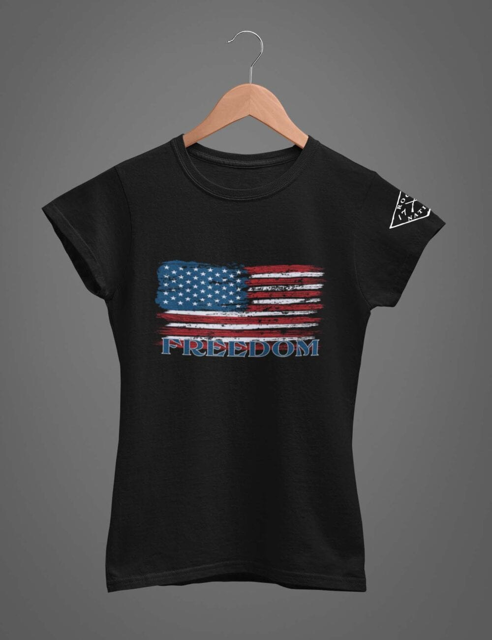 Freedom T-Shirt on Women's Black