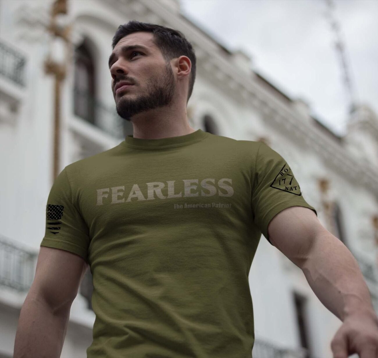 Fearless Patriot on a Men's Army T-Shirt