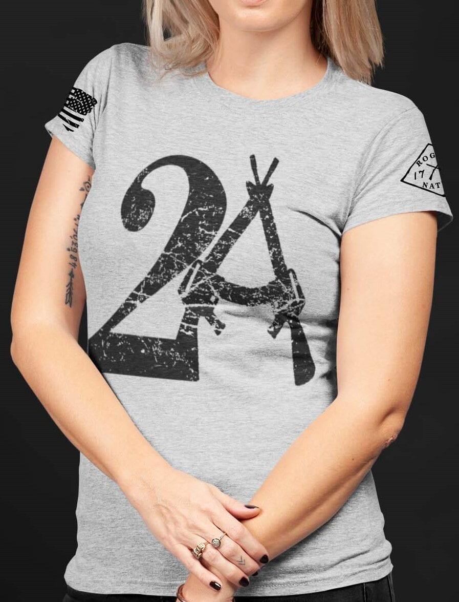 2A on a Light Heather Grey Women's T-shirt