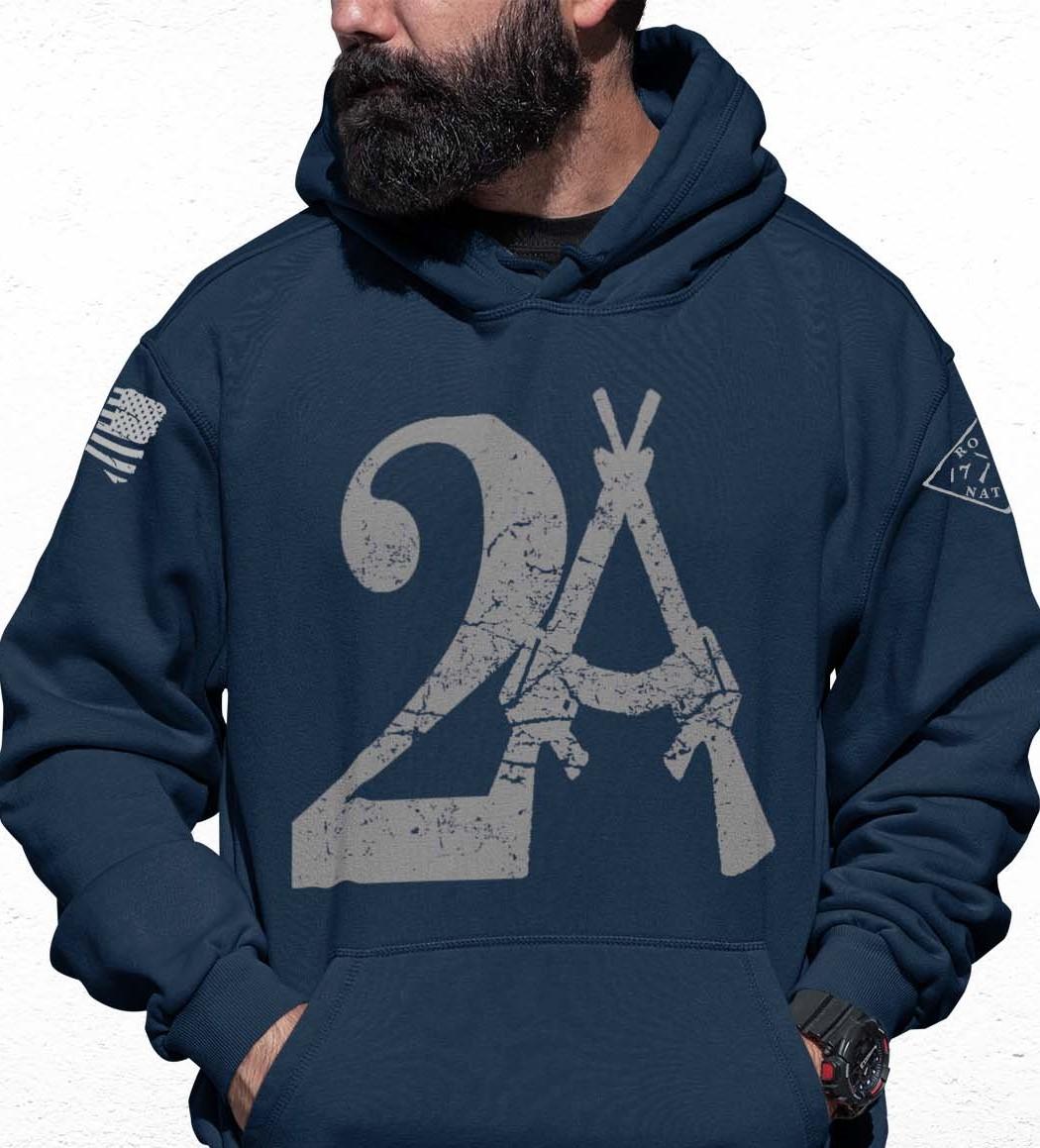 2A Hoodie on Men's Navy Blue Hoodie