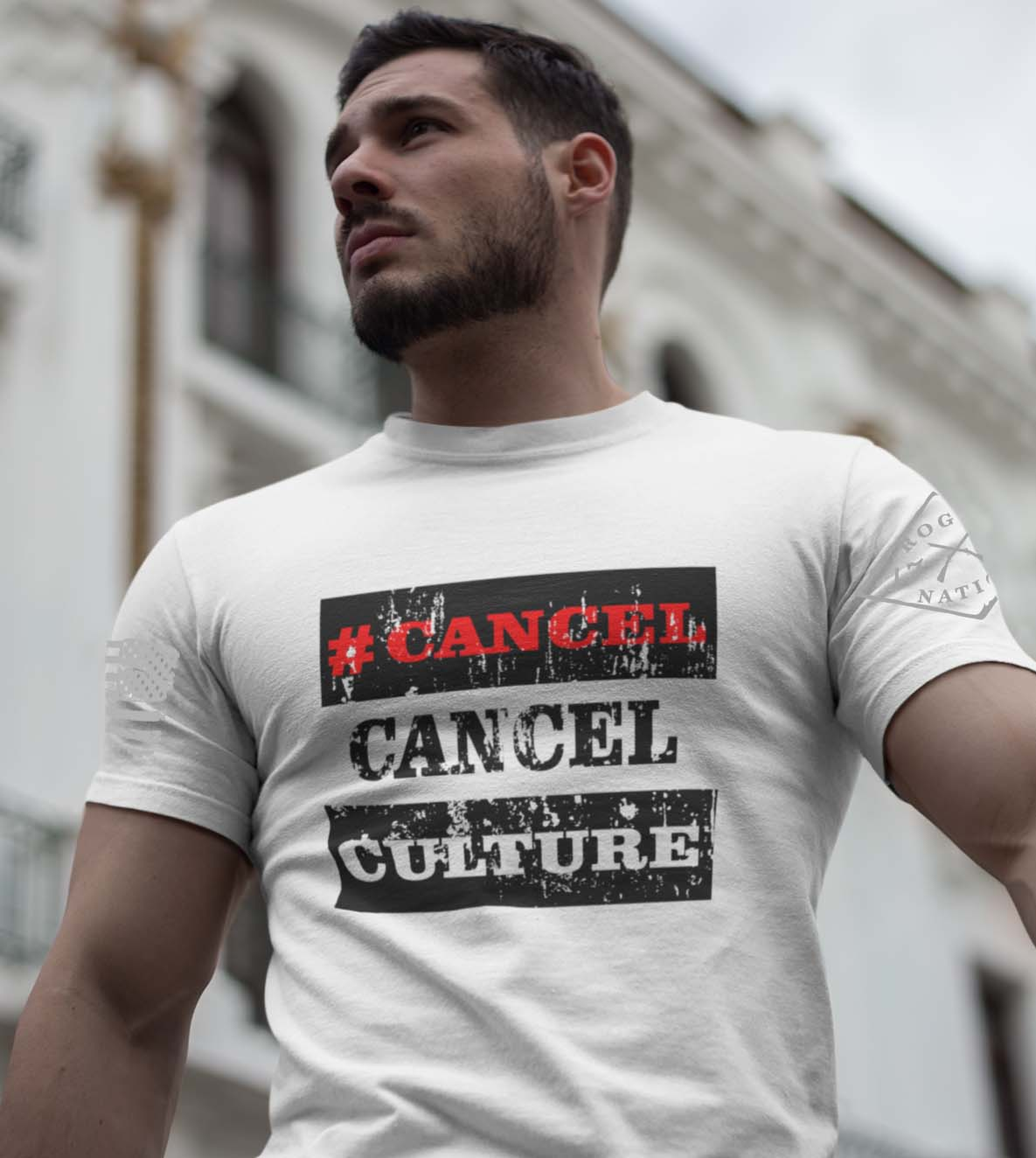 #Cancel Cancel Culture T-Shirt on Men's White T-Shirt