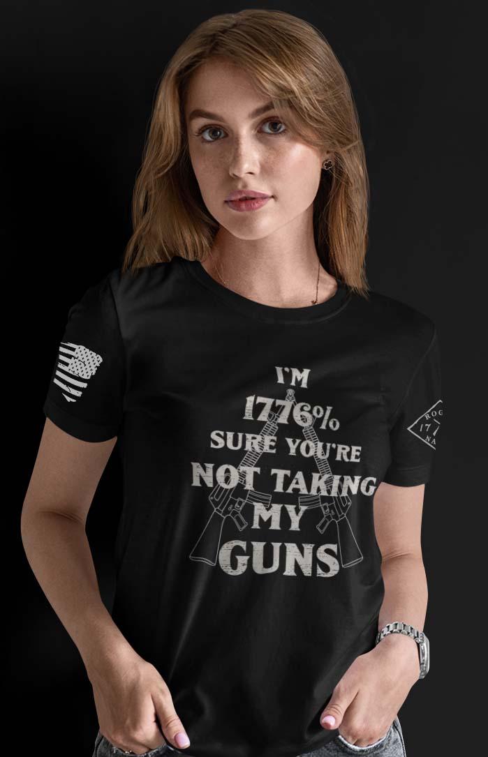 1776% Sure on a Women's Black T-Shirt