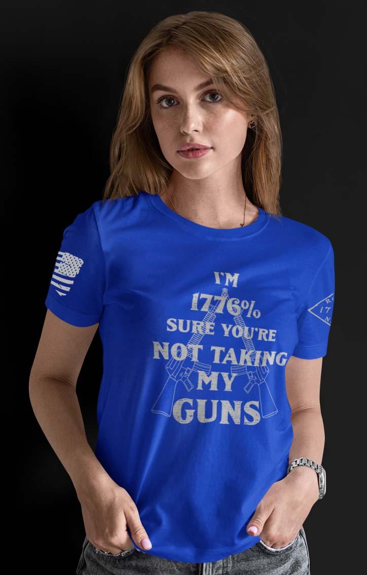 1776% Sure on a Women's Royal Blue T-Shirt