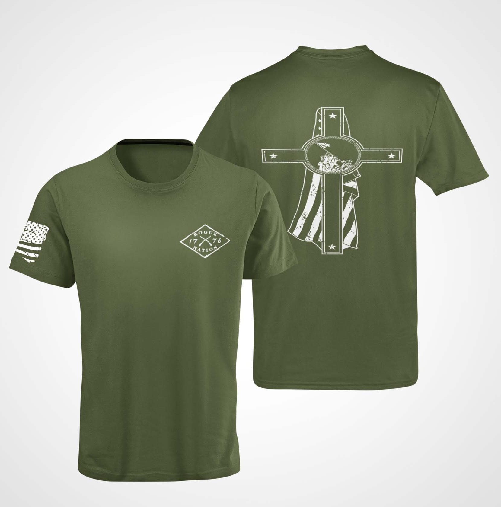 Memorial Day T-Shirt on a Men's Army T-Shirt